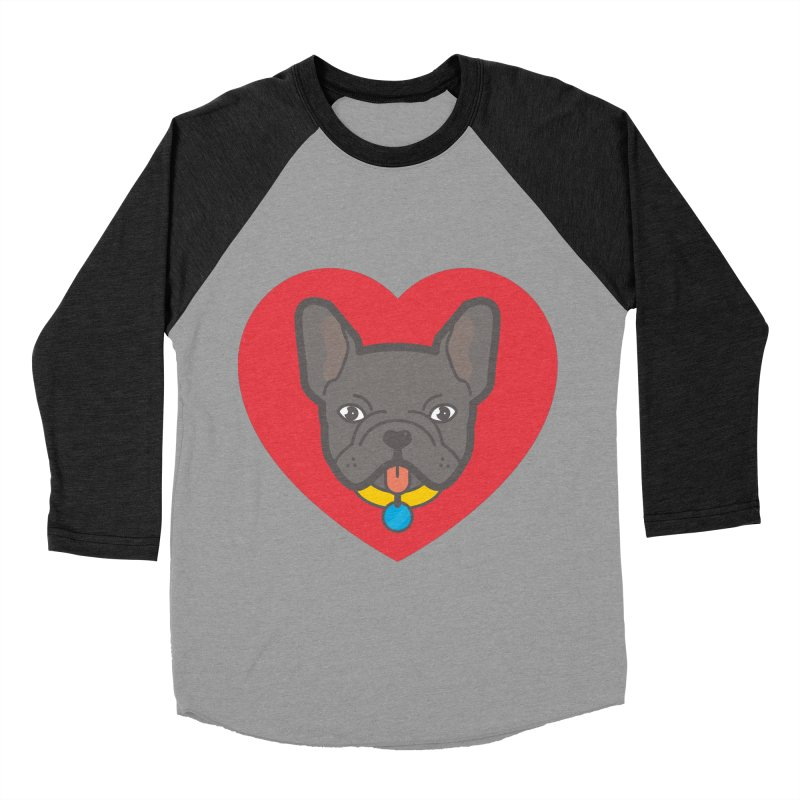 Love Your Frenchie Men's Baseball Triblend T-Shirt by typonegative's Artist Shop