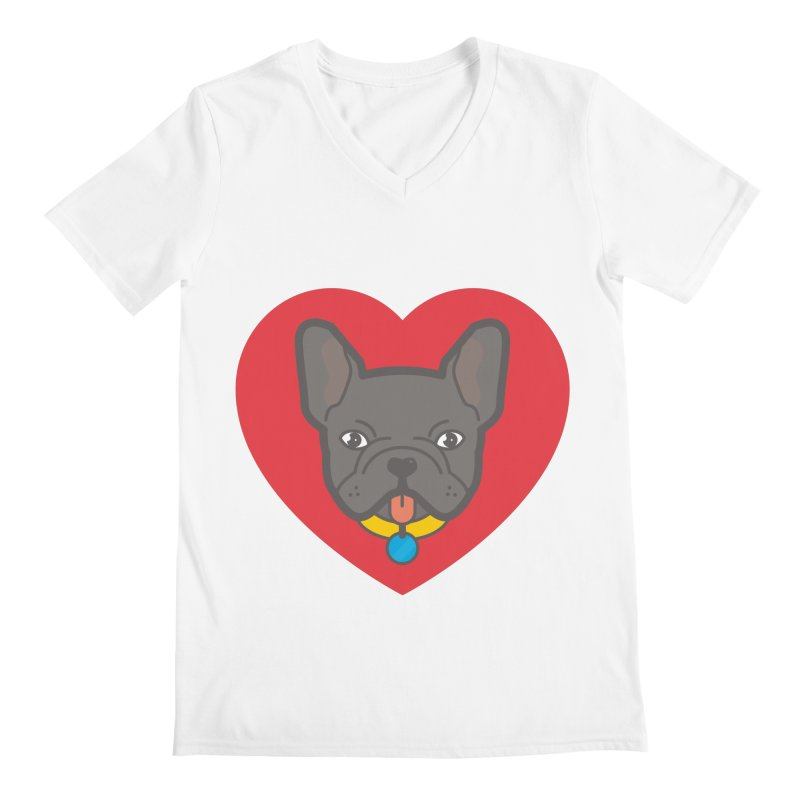 Love Your Frenchie Men's V-Neck by typonegative's Artist Shop