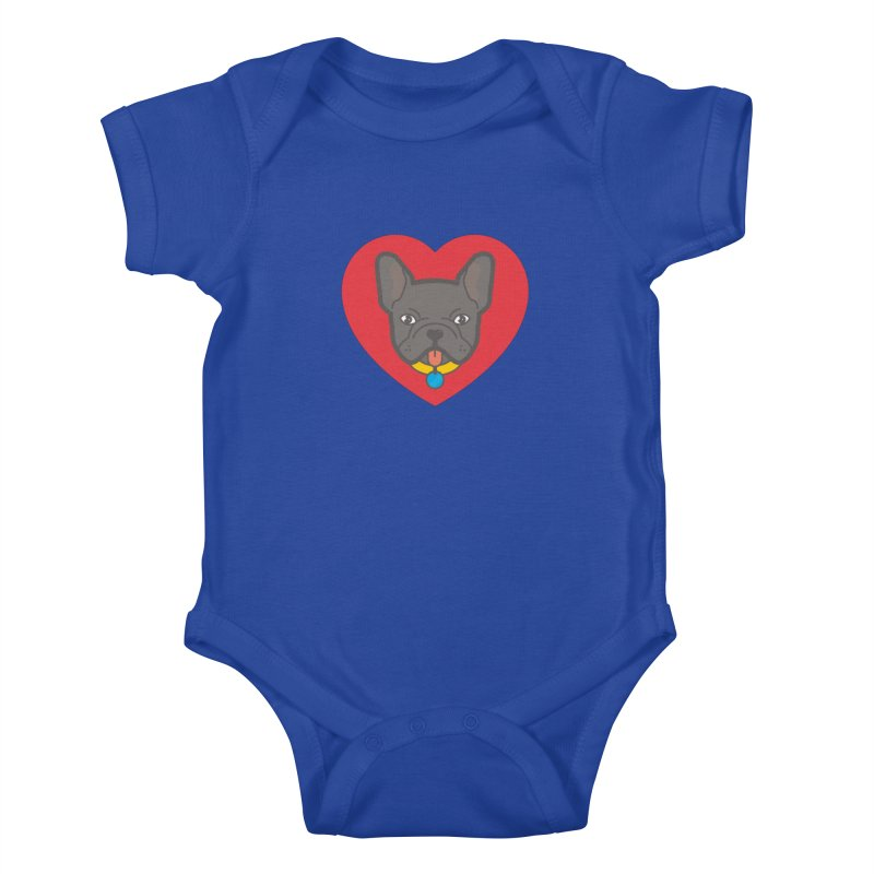 Love Your Frenchie Kids Baby Bodysuit by typonegative's Artist Shop
