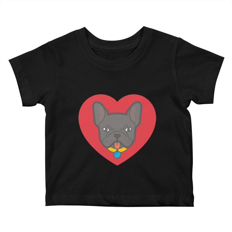Love Your Frenchie Kids Baby T-Shirt by typonegative's Artist Shop