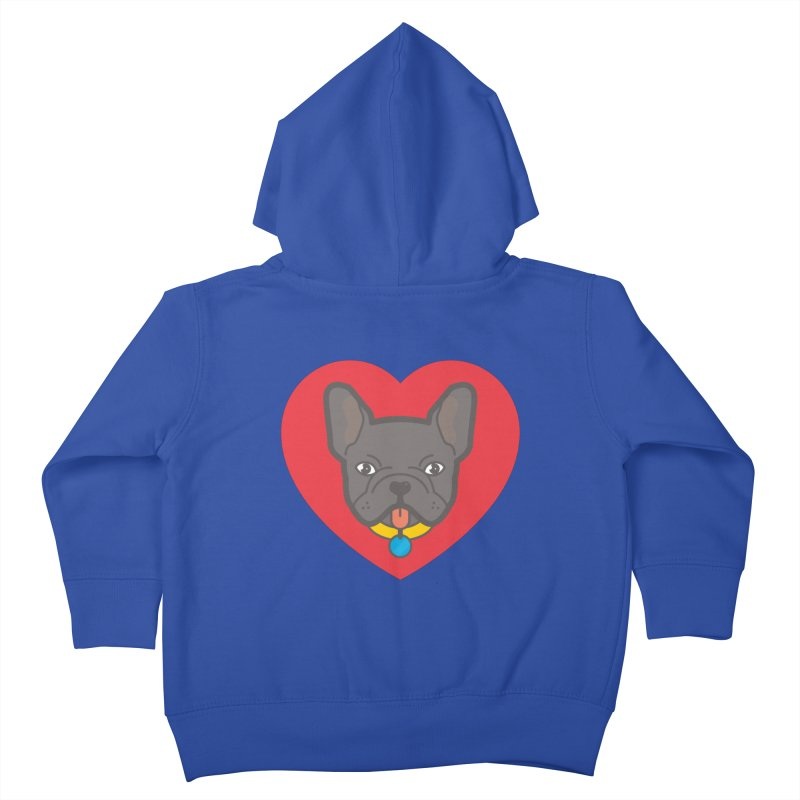 Love Your Frenchie Kids Toddler Zip-Up Hoody by typonegative's Artist Shop