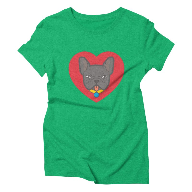 Love Your Frenchie Women's Triblend T-Shirt by typonegative's Artist Shop