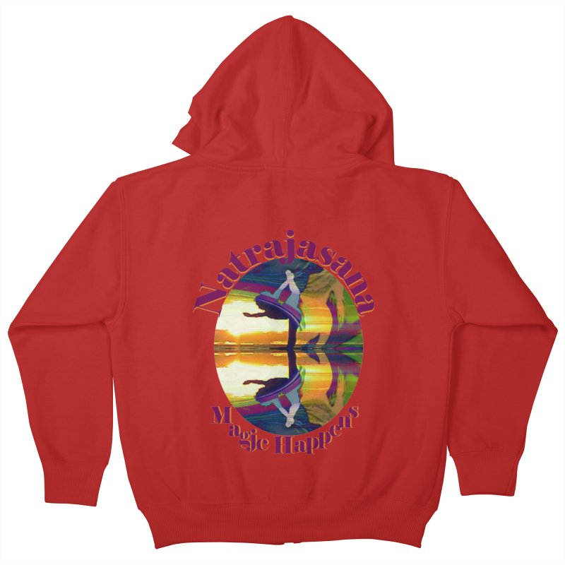 Natrajasana Magic Happens Kids Zip-Up Hoody by tzarts's Artist Shop