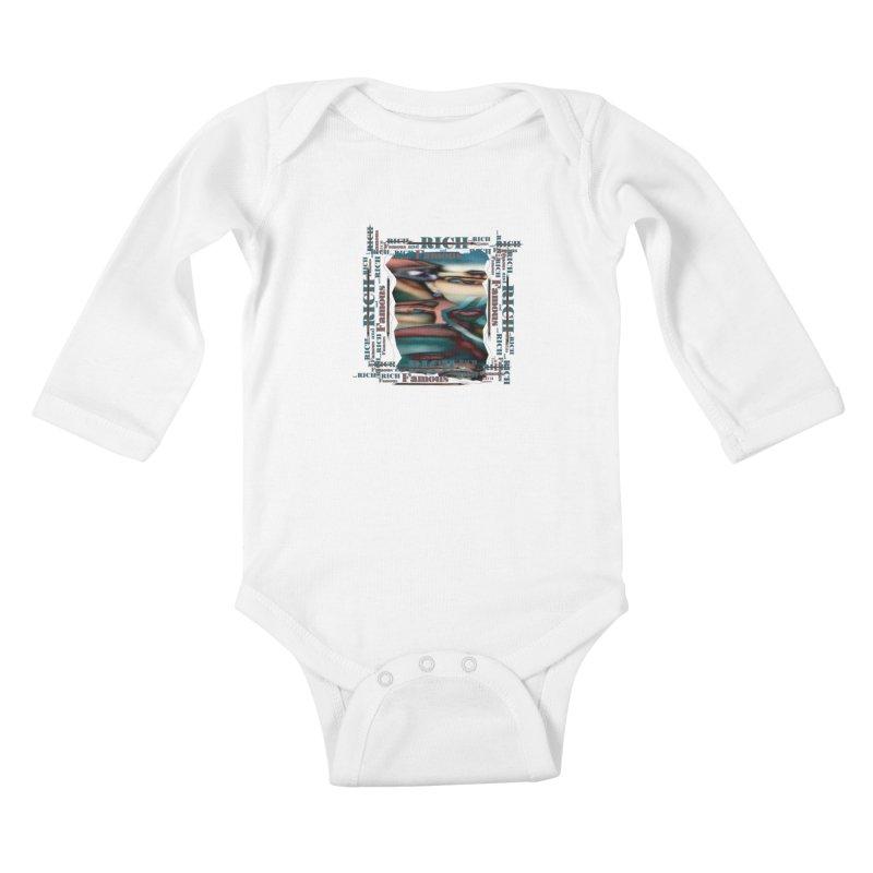 Rich and Famous Kids Baby Longsleeve Bodysuit by tzarts's Artist Shop