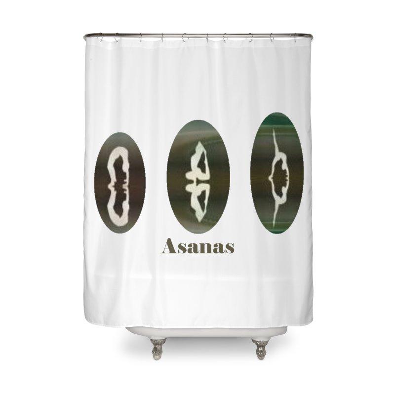 Asanas  Home Shower Curtain by tzarts's Artist Shop