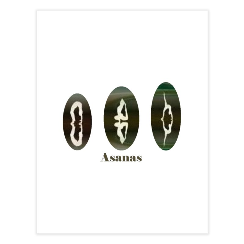 Asanas  Home Fine Art Print by tzarts's Artist Shop