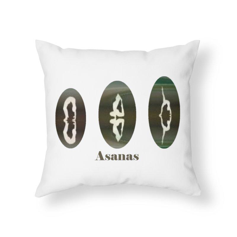 Asanas  Home Throw Pillow by tzarts's Artist Shop
