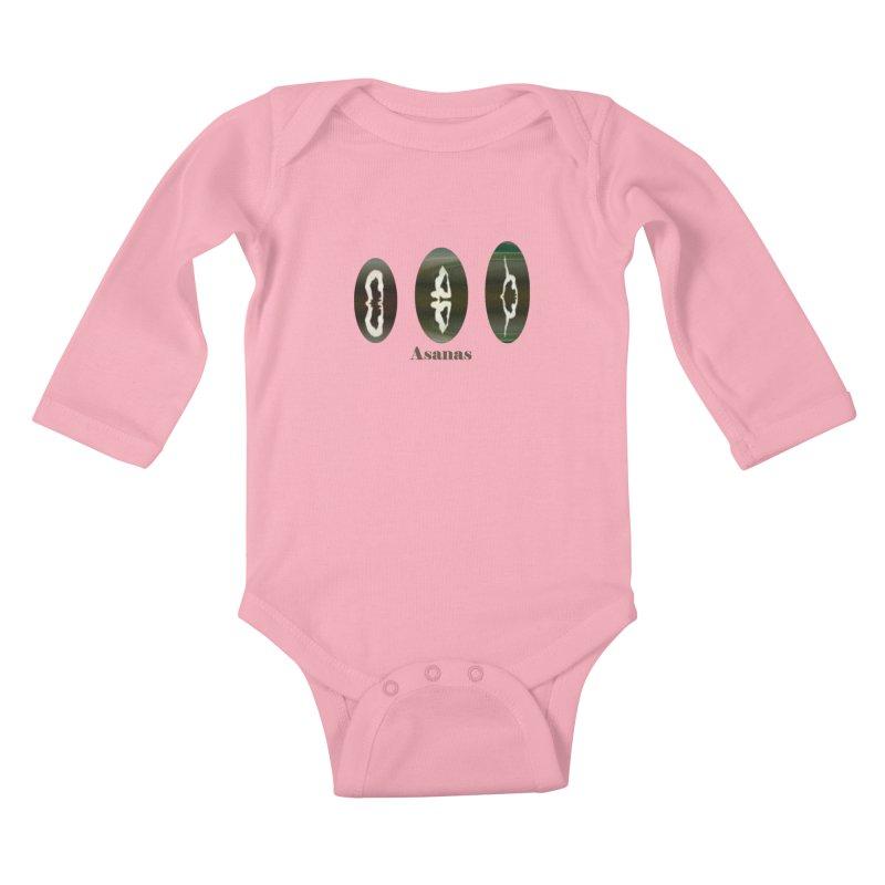 Asanas  Kids Baby Longsleeve Bodysuit by tzarts's Artist Shop
