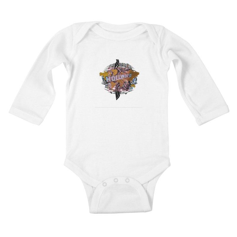 Holly Wood Kids Baby Longsleeve Bodysuit by tzarts's Artist Shop