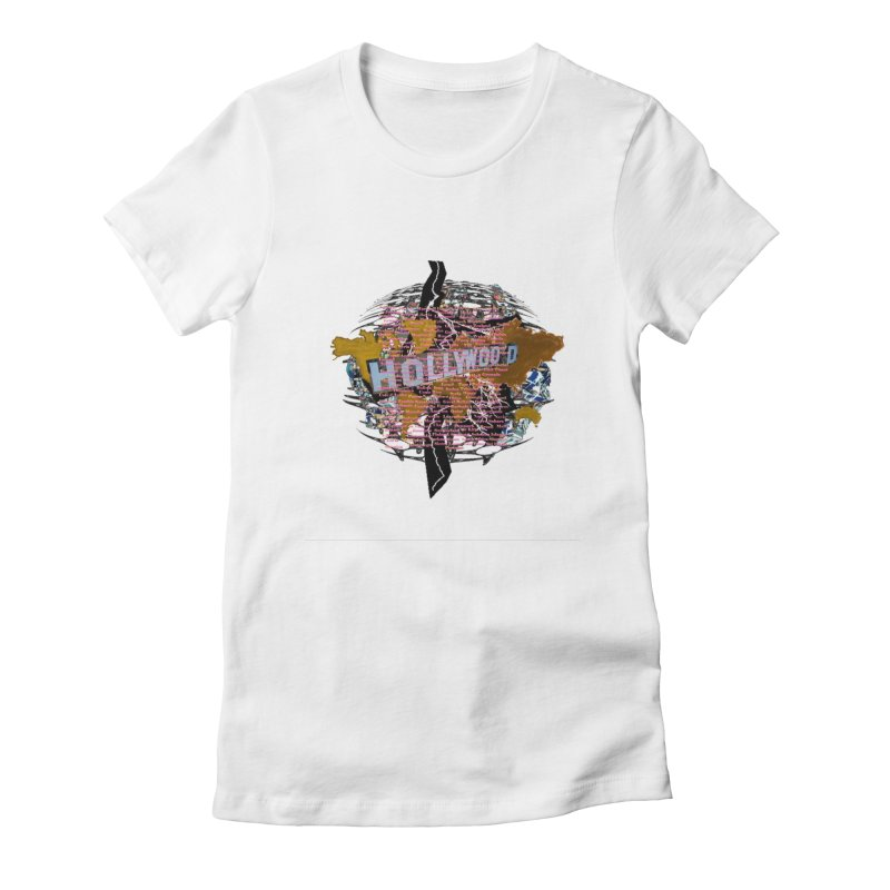 Holly Wood Women's Fitted T-Shirt by tzarts's Artist Shop