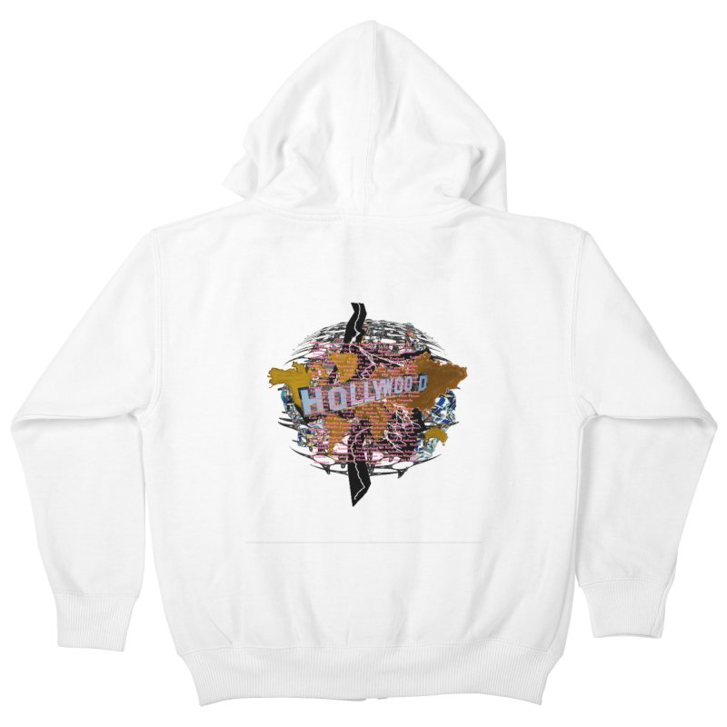 Holly Wood Kids Zip-Up Hoody by tzarts's Artist Shop