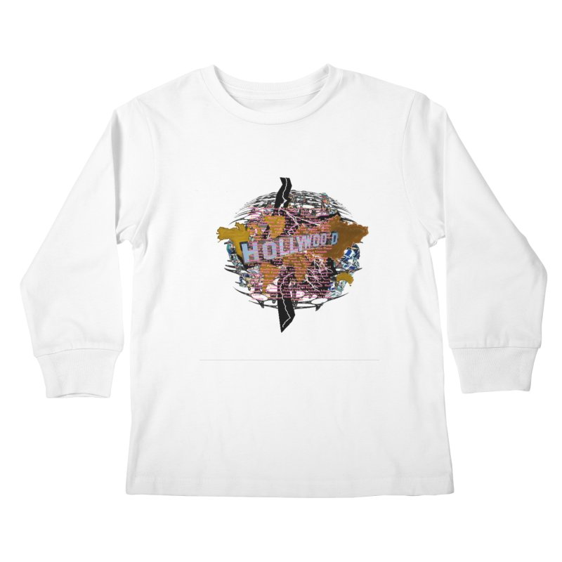 Holly Wood Kids Longsleeve T-Shirt by tzarts's Artist Shop