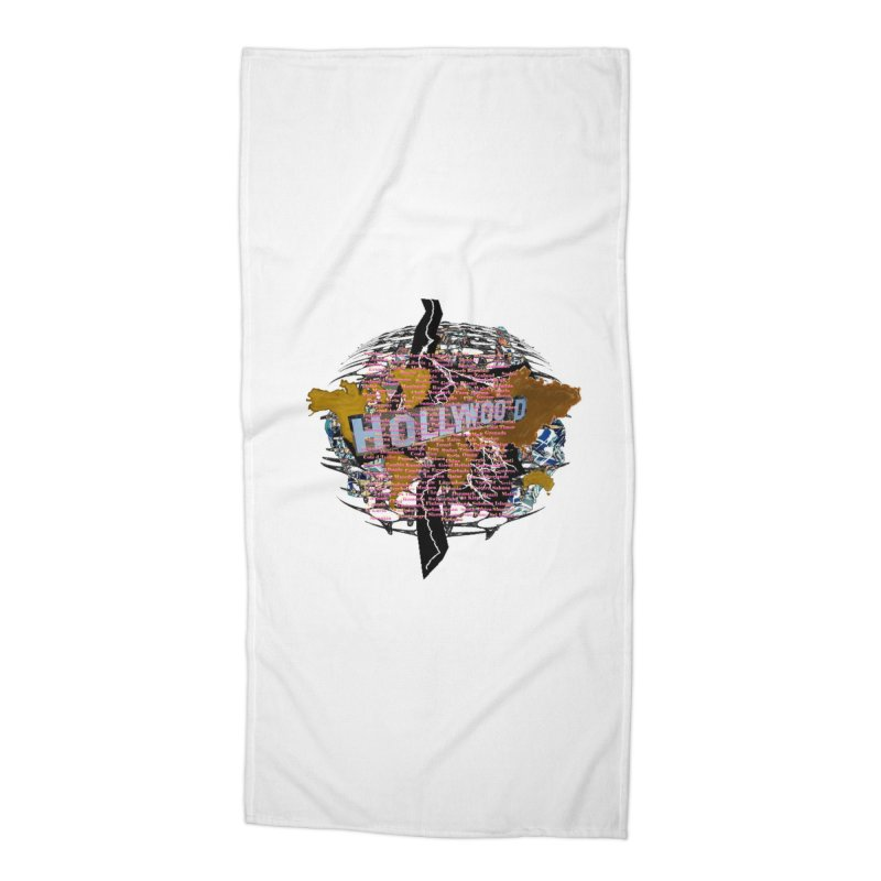Holly Wood Accessories Beach Towel by tzarts's Artist Shop
