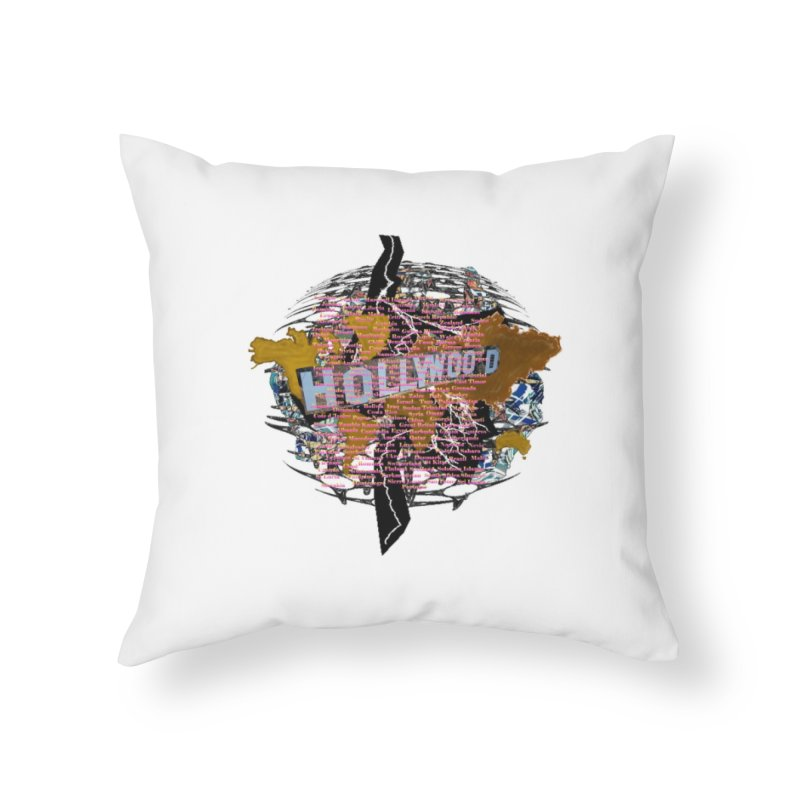 Holly Wood Home Throw Pillow by tzarts's Artist Shop