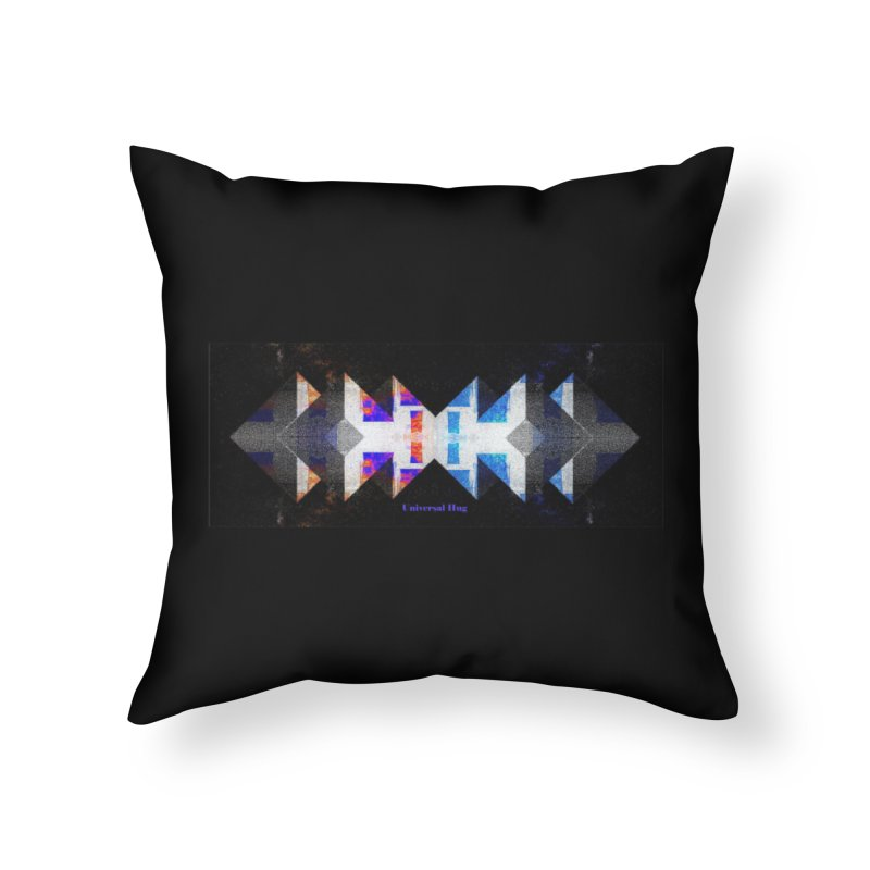 Universal Hug Home Throw Pillow by tzarts's Artist Shop
