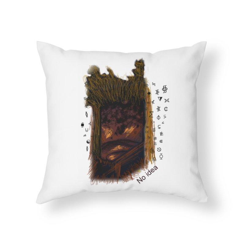 No idea Home Throw Pillow by tzarts's Artist Shop