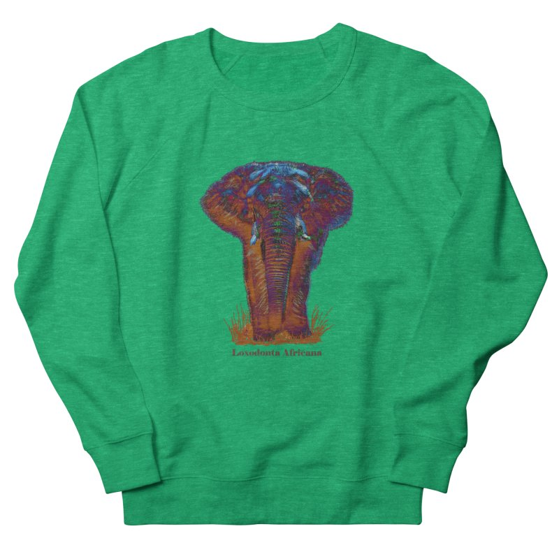 Loxodonta Africana Women's Sweatshirt by tzarts's Artist Shop