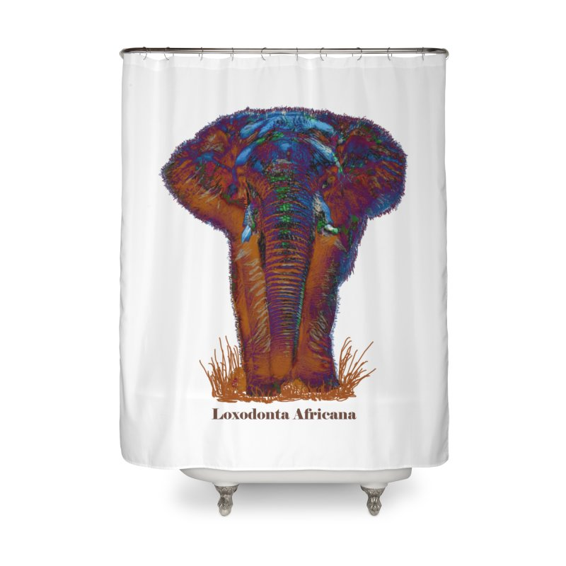 Loxodonta Africana Home Shower Curtain by tzarts's Artist Shop