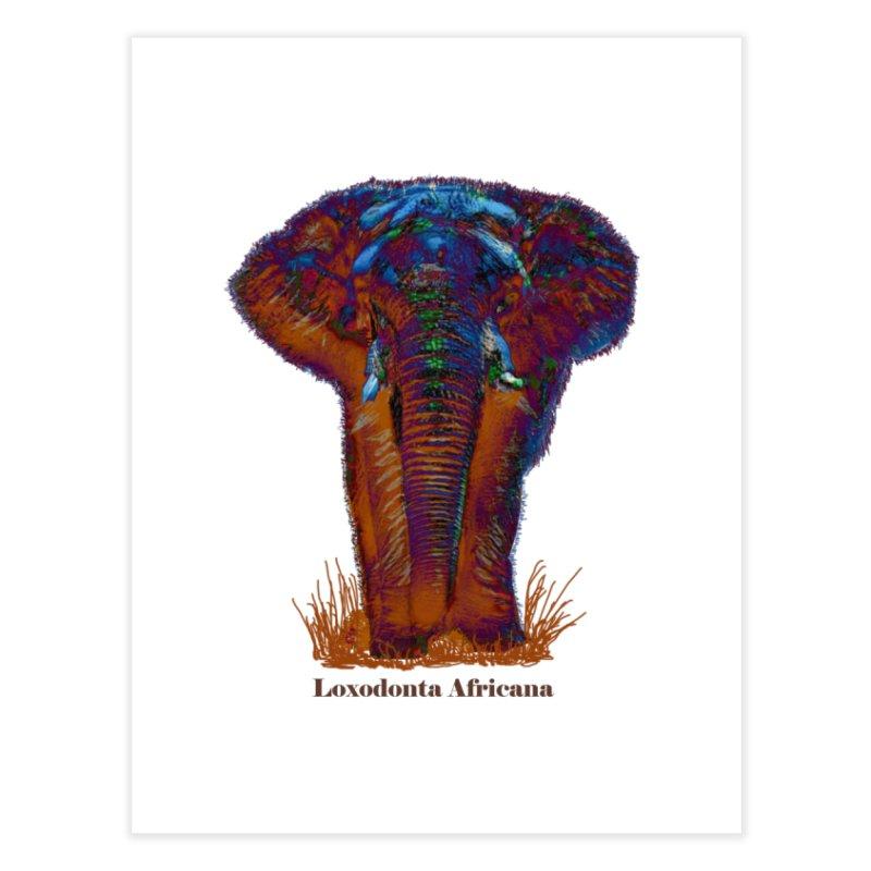 Loxodonta Africana Home Fine Art Print by tzarts's Artist Shop