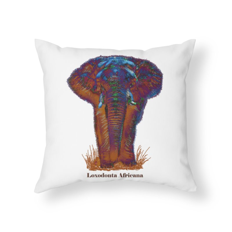 Loxodonta Africana Home Throw Pillow by tzarts's Artist Shop