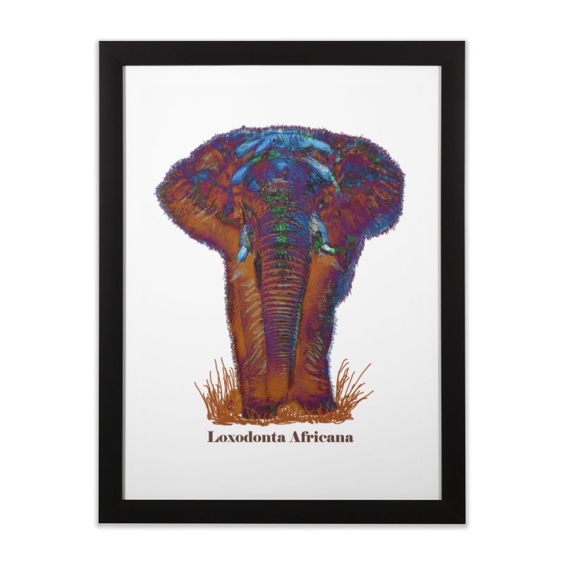 Loxodonta Africana Home Framed Fine Art Print by tzarts's Artist Shop