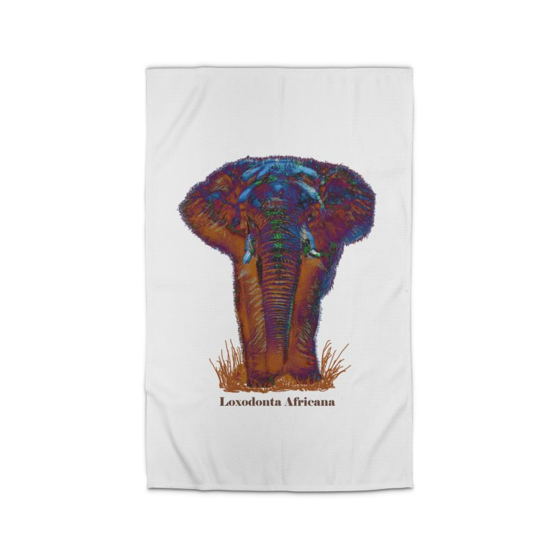 Loxodonta Africana Home Rug by tzarts's Artist Shop