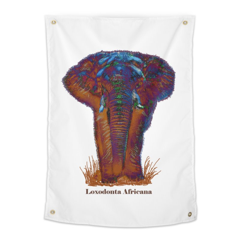 Loxodonta Africana Home Tapestry by tzarts's Artist Shop