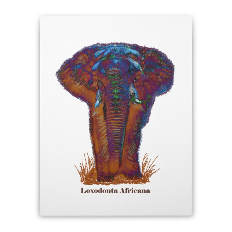 Loxodonta Africana Home Stretched Canvas by tzarts's Artist Shop