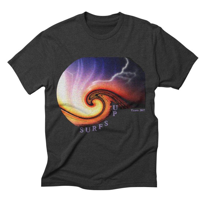 SURFS UP Men's Triblend T-shirt by tzarts's Artist Shop