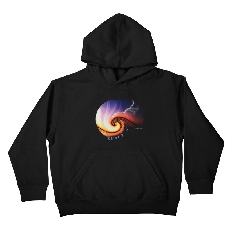 SURFS UP Kids Pullover Hoody by tzarts's Artist Shop