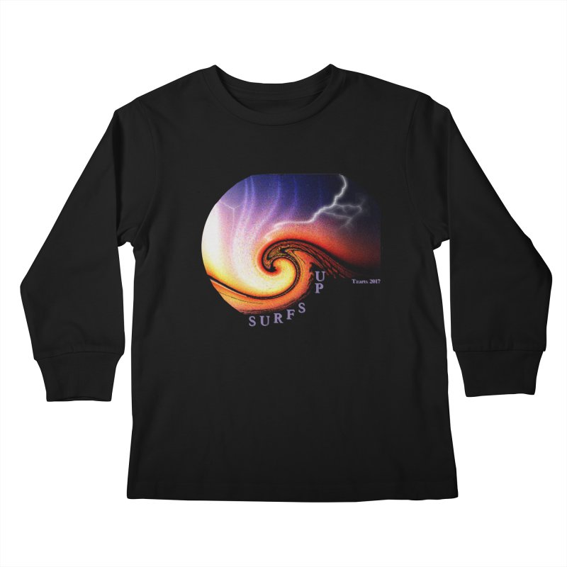 SURFS UP Kids Longsleeve T-Shirt by tzarts's Artist Shop