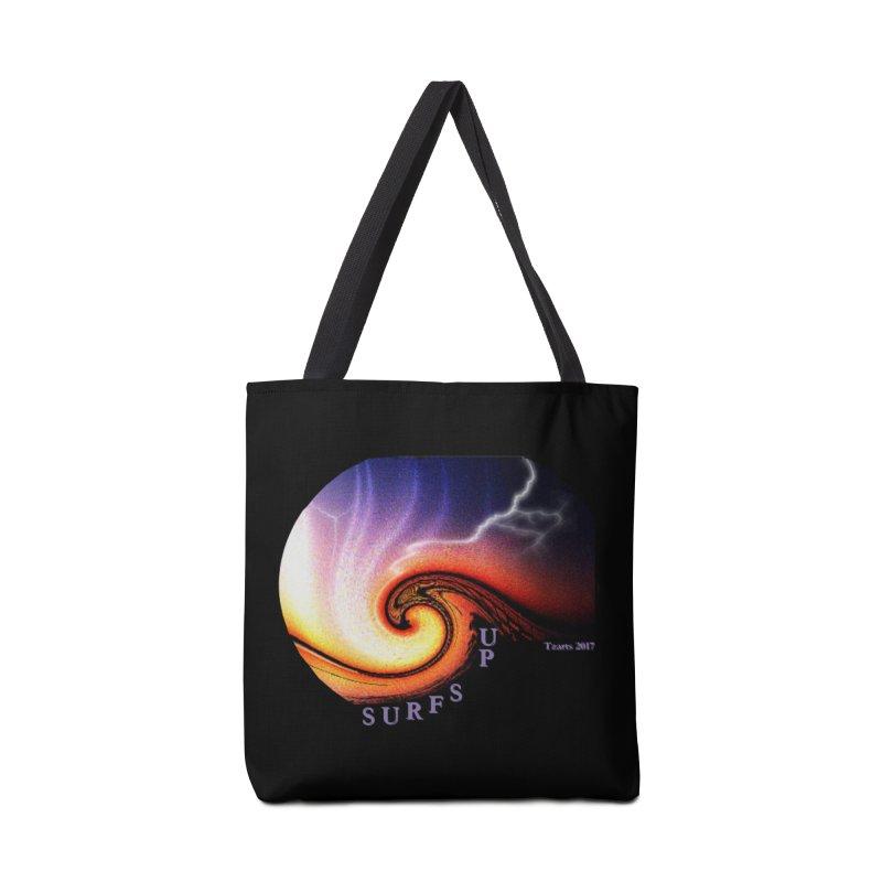 SURFS UP Accessories Bag by tzarts's Artist Shop