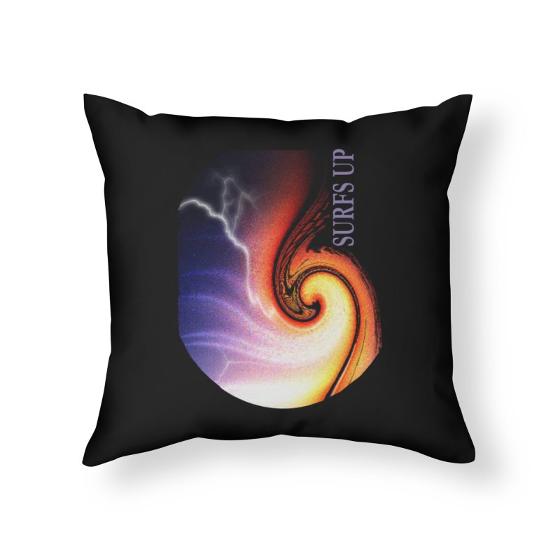 SURFS UP SHERPA BLANKETS Home Throw Pillow by tzarts's Artist Shop
