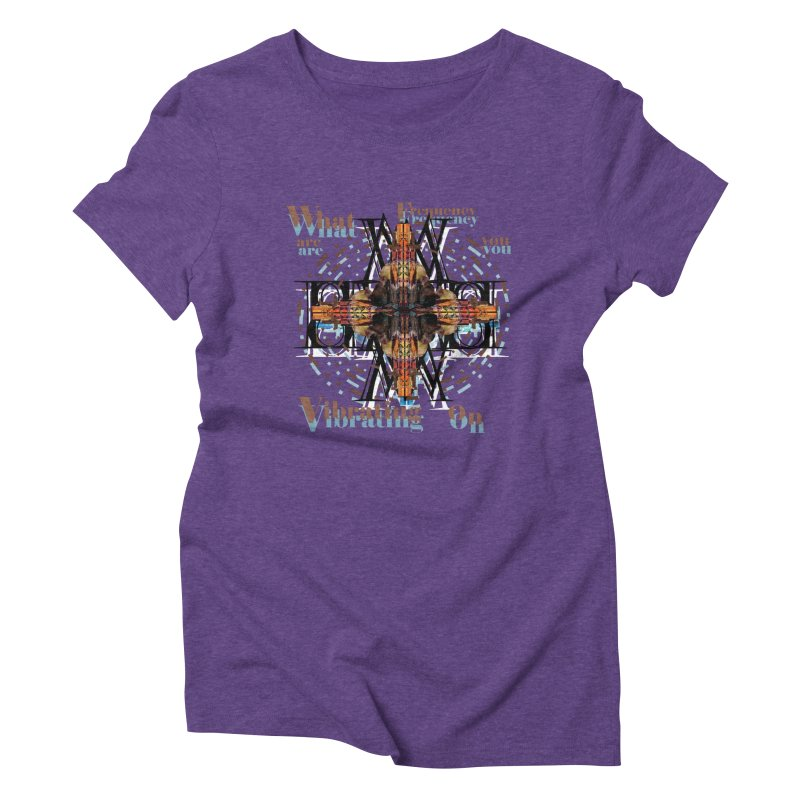 Frequency Women's Triblend T-shirt by tzarts's Artist Shop