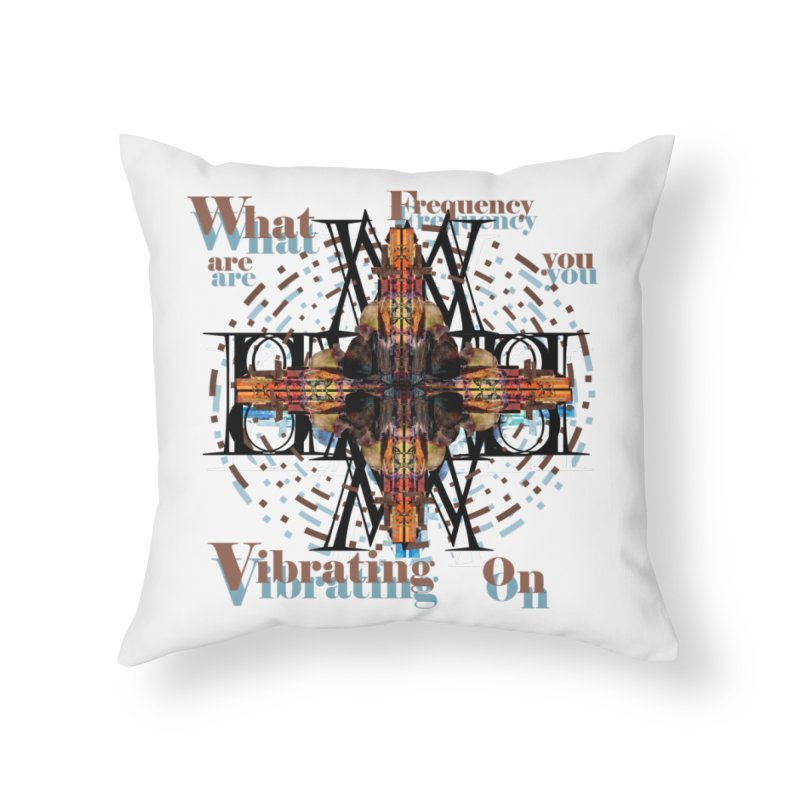 Frequency Home Throw Pillow by tzarts's Artist Shop