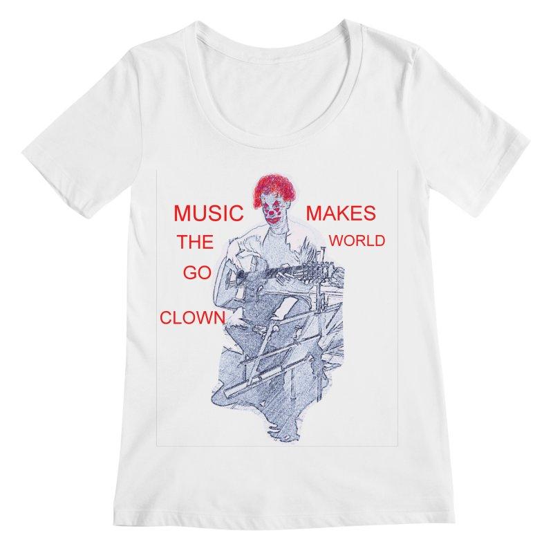 MUSIC CLOWN Women's Scoopneck by tzarts's Artist Shop