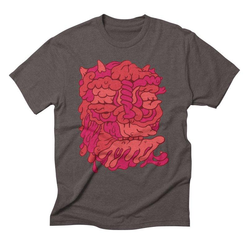 Head 173 Men's Triblend T-shirt by uberkraaft's Artist Shop