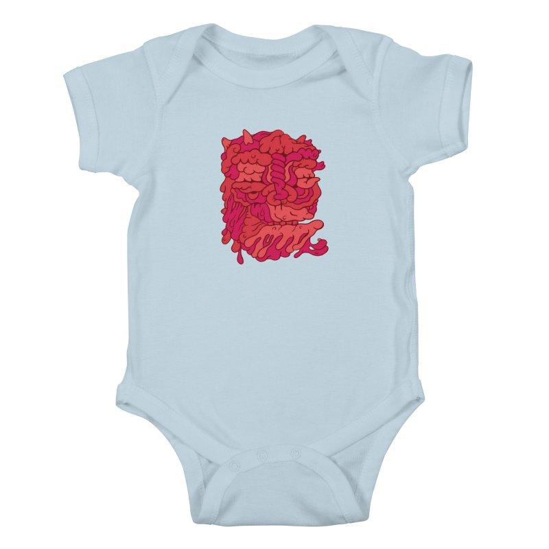 Head 173 Kids Baby Bodysuit by uberkraaft's Artist Shop