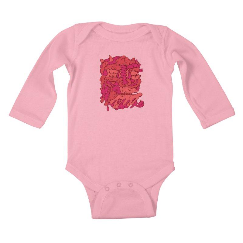 Head 173 Kids Baby Longsleeve Bodysuit by uberkraaft's Artist Shop