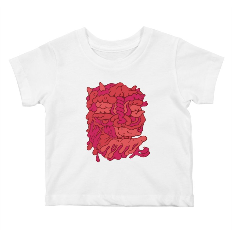 Head 173 Kids Baby T-Shirt by uberkraaft's Artist Shop