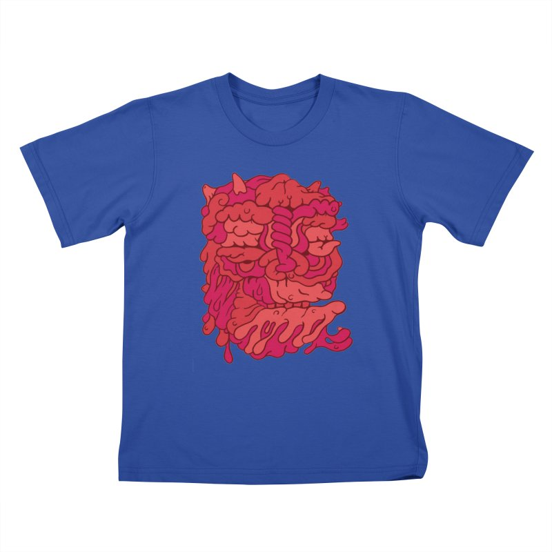 Head 173 Kids T-shirt by uberkraaft's Artist Shop