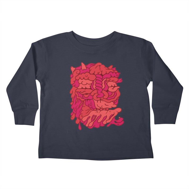 Head 173 Kids Toddler Longsleeve T-Shirt by uberkraaft's Artist Shop