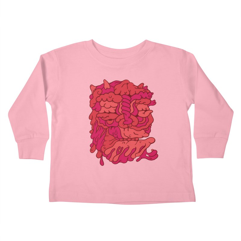 Head 173 Kids Toddler Longsleeve T-Shirt by uberkraaft's Artist Shop
