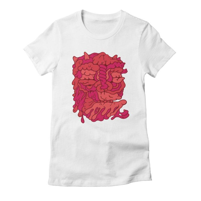 Head 173 Women's Fitted T-Shirt by uberkraaft's Artist Shop