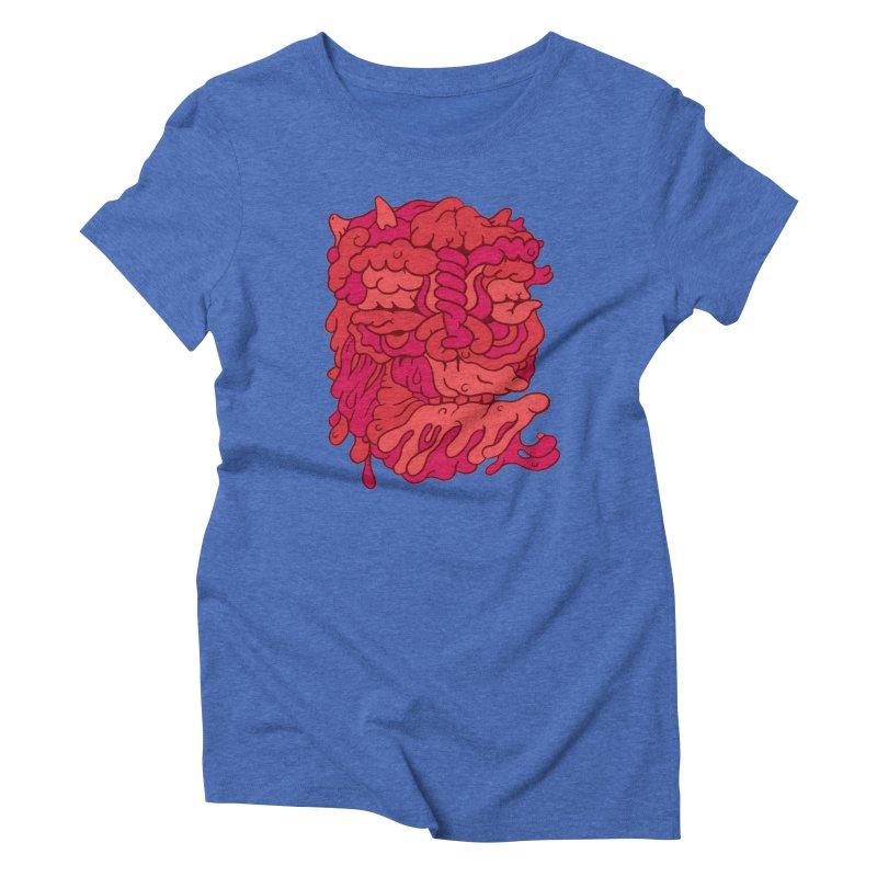 Head 173 Women's Triblend T-Shirt by uberkraaft's Artist Shop