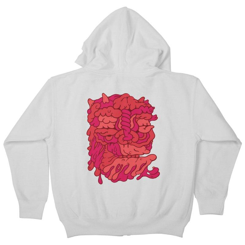 Head 173 Kids Zip-Up Hoody by uberkraaft's Artist Shop