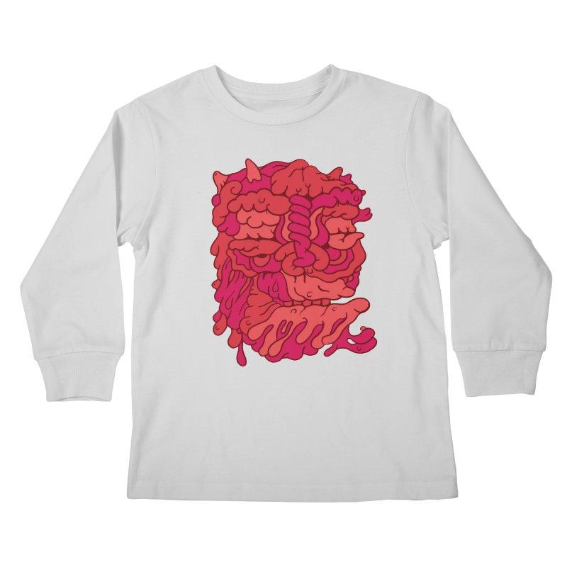 Head 173 Kids Longsleeve T-Shirt by uberkraaft's Artist Shop