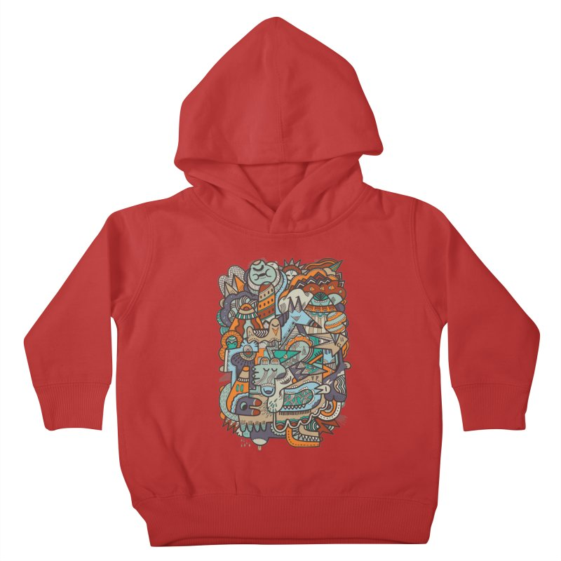 Punky dreamed of fairgrounds Kids Toddler Pullover Hoody by uberkraaft's Artist Shop