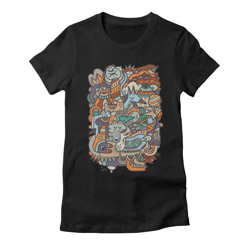 Punky dreamed of fairgrounds Women's Fitted T-Shirt by uberkraaft's Artist Shop