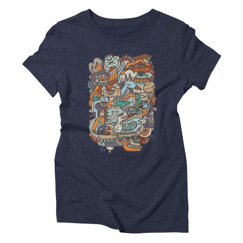 Punky dreamed of fairgrounds Women's Triblend T-Shirt by uberkraaft's Artist Shop